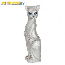 Копилка «Кошка Багира» серебро