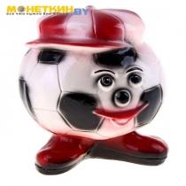 Копилка «Футбольный мяч» красная