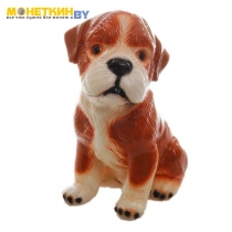 Копилка «Собака Сенбернар» глянец рыжий