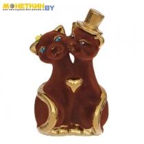 Копилка «Коты Жених и Невеста» булат коричневый