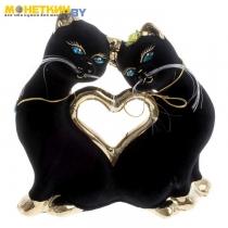 Копилка «Кошки Сердце» булат черный большие