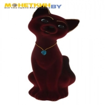 Копилка «Кот Матвей» большой бордовый