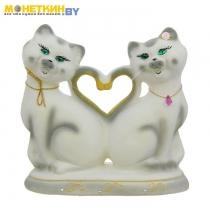 Копилка «Коты Сердце» белый