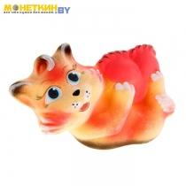 Копилка «Котенок с подушкой» персиковая поддувка