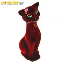 Копилка «Кошка Алиса» малая бордовый