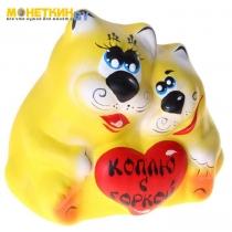 Копилка «Коты с сердцем» жёлтые