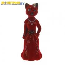 Копилка «Кошка Миледи» бордовый
