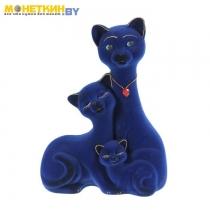 Копилка «Кот Семья» синий
