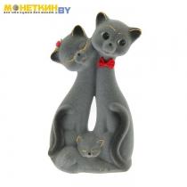 Копилка «Кот Семья» серый