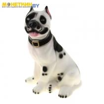 Копилка «Собака Стафф» белый долматинец