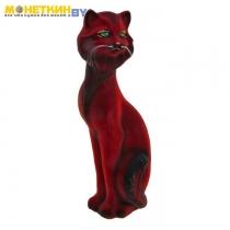 Копилка «Кошка Матильда» бордовая задувка