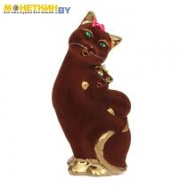 Копилка «Кошка Мама» булат коричневый