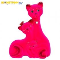 Копилка «Кот Семья» большая розовый