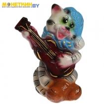 Копилка «Кот с гитарой» глянец белый