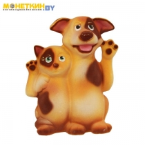 Копилка «Кот и Пес Друзья» бежевый