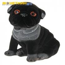Копилка «Собака Мопс сидячий» черный