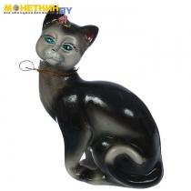 Копилка «Кошка Шарлотта» глянец черный