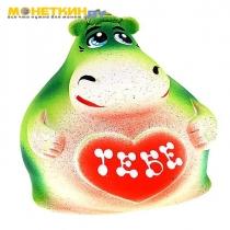 Копилка «Бегемотик» малый зеленый