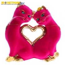 Копилка «Кошки Сердце» булат розовый