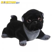 Копилка «Собака Мопс» черный