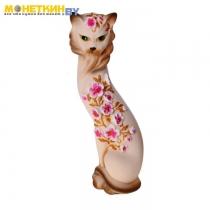 Копилка «Кошка Маркиза» средняя яблоневая ветка бежевый