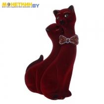 Копилка «Коты Пара Лакки» бордовый