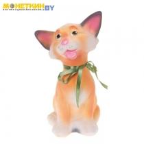 Копилка «Кошка Чистюля» персиковый