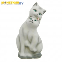 Копилка «Коты Пара» большая белый