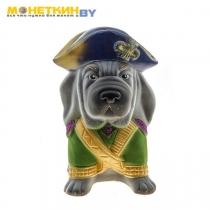Копилка собака «Адмирал» серый