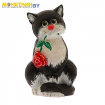 Копилка «Кот с розой»