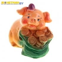 Копилка «Свинка с мешком»