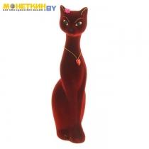Копилка «Кошка Мурка» малая бордовый