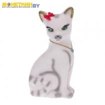 Копилка «Кошка Лиза» белый