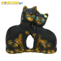 Копилка «Коты Сладкая парочка» глянец черный