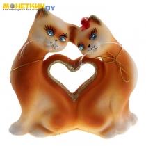 Копилка «Кошки Сердце» большая рыжая