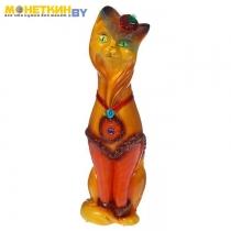 Копилка «Кошка Мишель» малая глянец бежевый