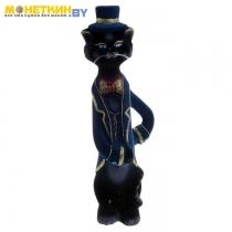 Копилка «Кот Кавалер» черный синий пиджак