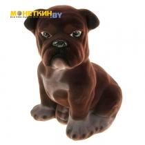 Копилка «Собака Бульдог» большой коричневый