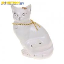 Копилка «Кошка Мурка» белая