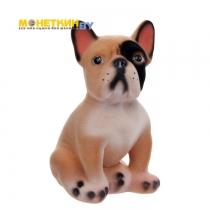 Копилка «Собака Французский Бульдог» малый бежевый
