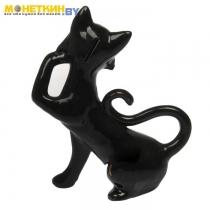 Копилка «Кошка Милена» глазурь черная цепоча