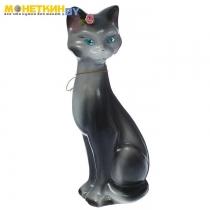 Копилка «Кошка Камила» малая глянец серый