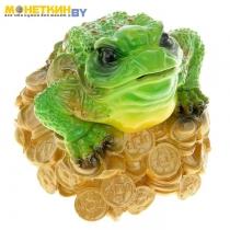Копилка «Денежная жаба» с чёрными глазами