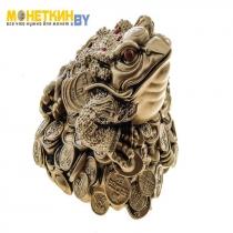Копилка «Жаба на монетах вторая римская» бронза