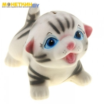 Копилка «Котик Максик» серый