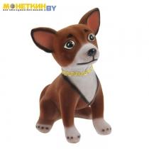 Копилка «Собака Чихуахуа» коричневый