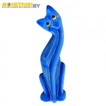 Копилка «Кошка Муся №5» голубая