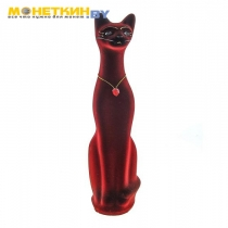 Копилка «Кот» средний бордовый