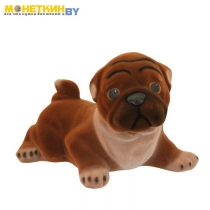 Копилка «Собака Мопс» коричневый