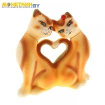 Копилка «Кошки Сердце» лимонная